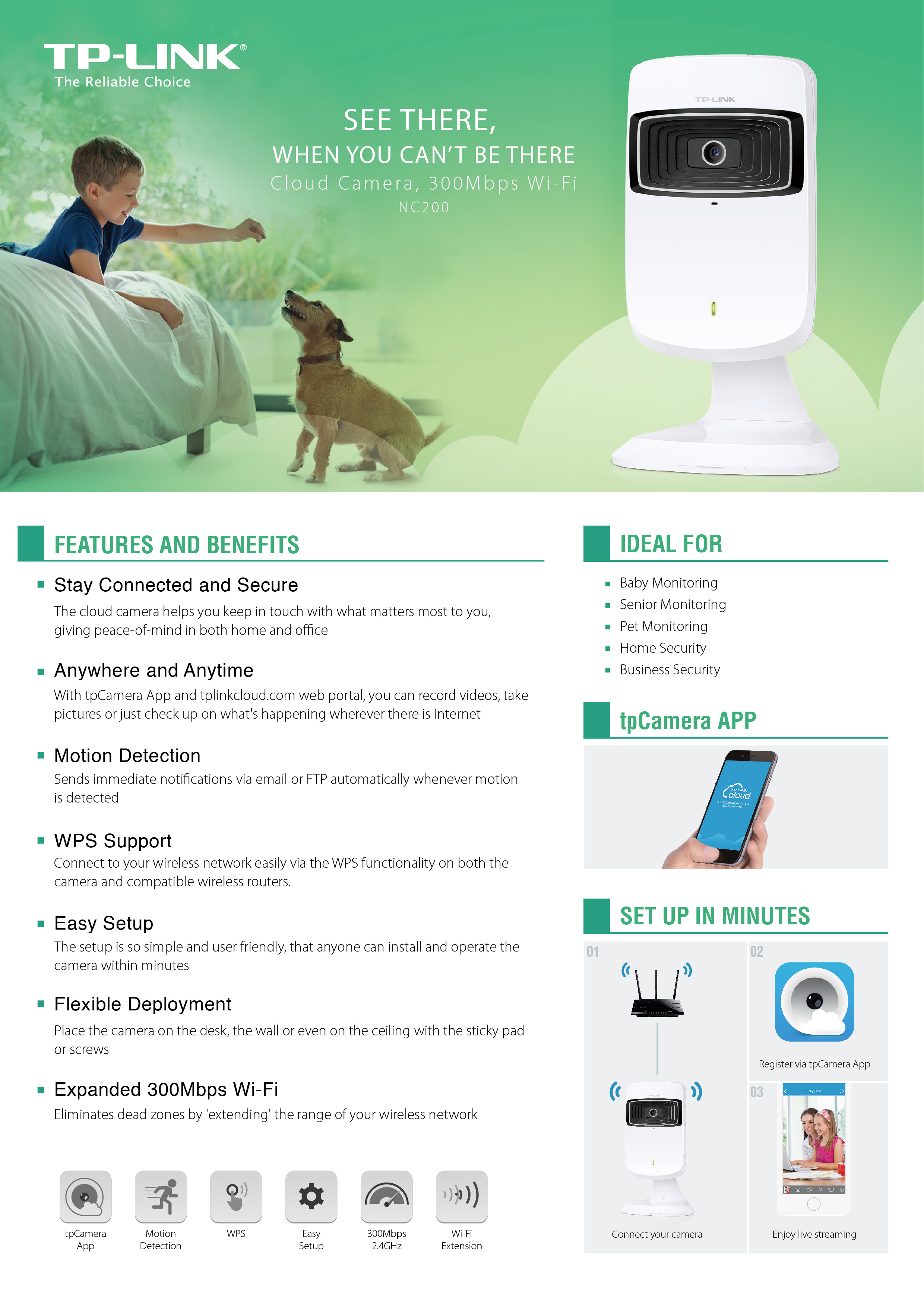 TP-LINK Launches NC200 Cloud Camera with 300Mbps Wi-Fi